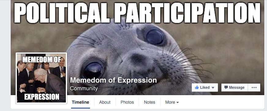 Memedom of Expression facebook page